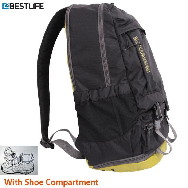 BESTLIF unisexe sac de voyage Pack léger sac à dos pour ordinateur portable sac à dos avec compartiment à chaussures imperméable Ripstop Nylon sac à dos