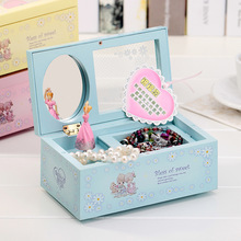 DIY Girl Ballerina Music Box Rectangle with Mirror Musical Jewellery Box Music Boxes Girls Carousel Music Box Mechanism lov Gift