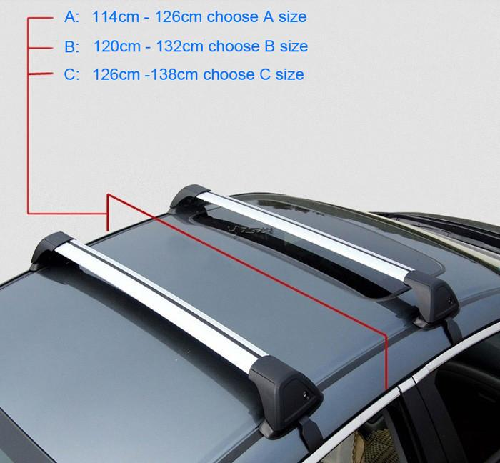 New Car Roof Rack Car Top Racks Cross Bar No Drilling Required Universal  Aluminium Alloy