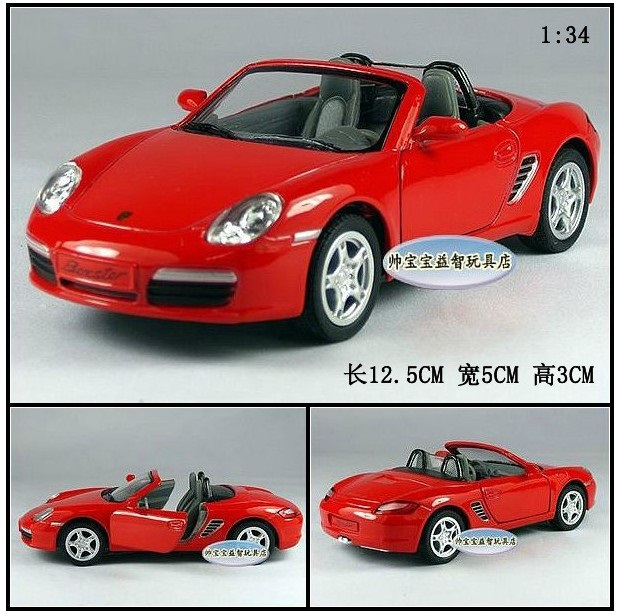 Candice guo! Hot sale Super cool 1:34 mini boxster convertible sports car alloy model car toy good for gift 1pc
