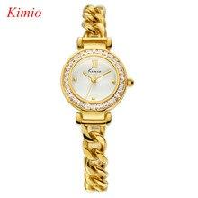 KIMIO Reloj de la Marca Para las mujeres de Lujo Famosa Marca de Moda de oro Rosa relojes Completa de acero inoxidable reloj resistente al agua de las mujeres