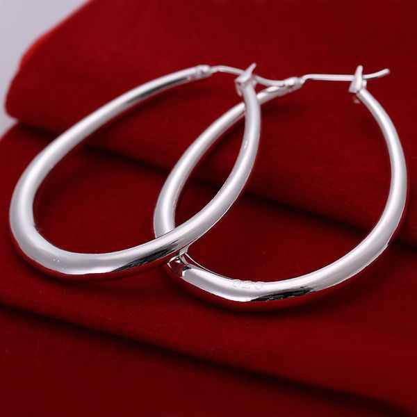 Wholesale High Quality Jewelry 925 jewelry silver plated Solid U Shaped Earrings for Women best gift SMTE080