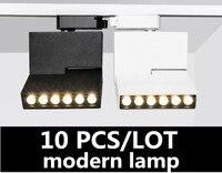 10 pcs 3 linhas 6 W 12 W Dobrável Iluminação COB Spot light Teto Montado Conduziu a luz de pista Rodado Múltipla fontes de luz para o interior|Iluminação do percurso| |  -