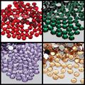 1000 pcs 4mm ss16 Resina Strass Rodada Pedra De Volta Plana Grânulos de cristal 14 Facetas DIY Vermelho Verde Esmeralda Roxo Claro champanhe