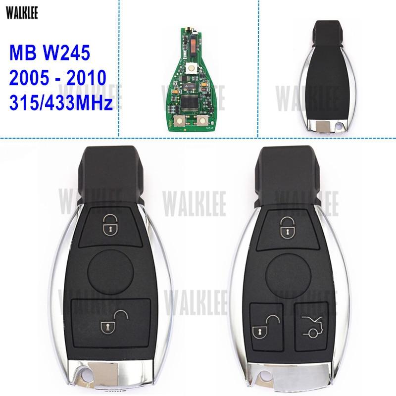WALKLEE Car Remote Smart Key Suit for Mercedes Benz W245 2005-2011 NGT Turbo CDI B160 B170 B180 B200 B-CLASS gletcher ngt silver