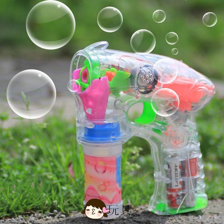 Electric bubble gun font b toy b font fully automatic cartoon bubble water gun music bubble