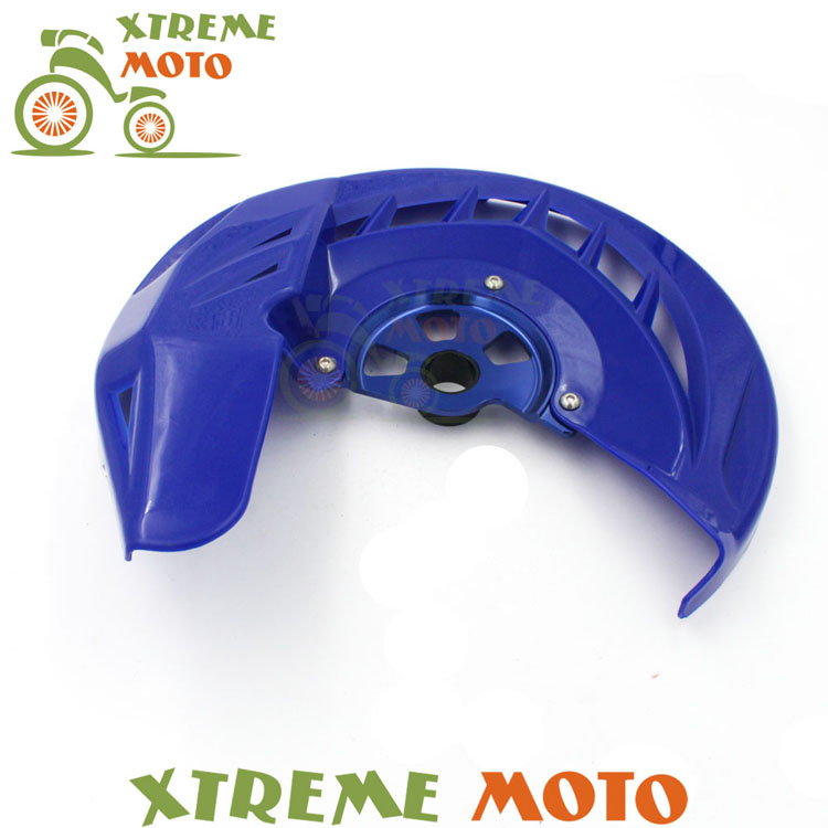 Front Blue Motorcycle Brake Disc Rotor Guard Protector Cover For YZ125 YZ250 YZF250 YZF450 WRF250 WRF450 Dirt Pit Bike Enduro front wave disc brake yz yzf wrf yz250 yzf250 yzf450 wrf250 wrf450 motocross enduro supermotard motocross motorcycle