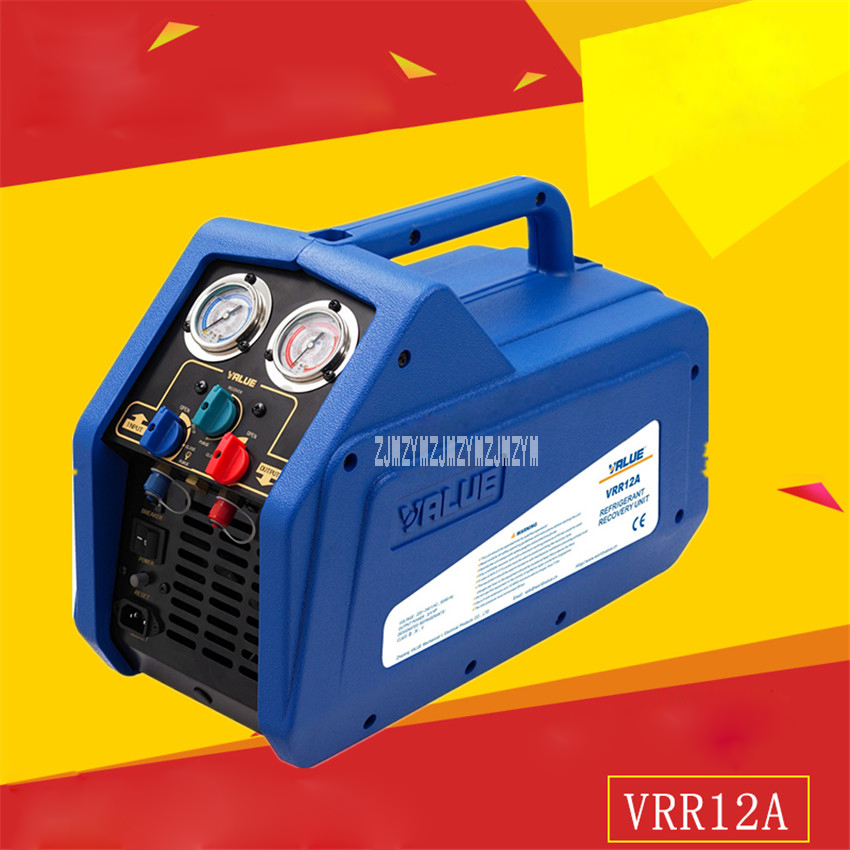 New Arrival VRR12A Single Cylinder Refrigerant Recovery Machine 220-240VAC 50  60Hz 4A 1450rpm 3  4HP Motor 0-40 degrees Hot