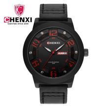 baa4a906d74f 097B CHENXI hombres de marca de lujo de cuarzo analógico 3D cara de cuero  horas deportes relojes de pulsera Relogios Masculino d.
