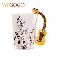 WFGOGO tasses En Céramique Tasse Creative Note de Musique Lait Jus De Citron Tasse Café Thé Tasse violon Home Office Verres Cadeau Unique