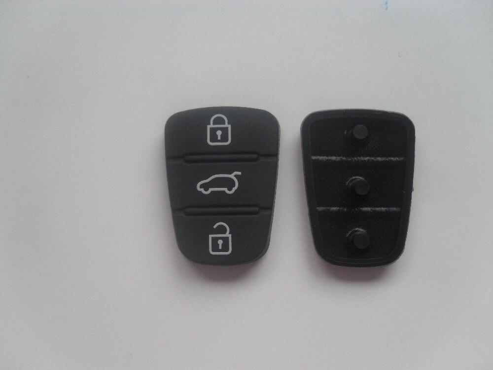 Replacement 3 Buttons Rubber Pad For Hyundai I10 I20 I30 IX35 Kia Sportage Cerato Rio Flip Key Protective Pad