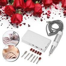 Anself 30 Вт 30000 об./мин Беспроводная электрическая дрель для ногтей набор профессионального полировщика для ногтей глазировочная машина для педикюра и маникюра инструмент