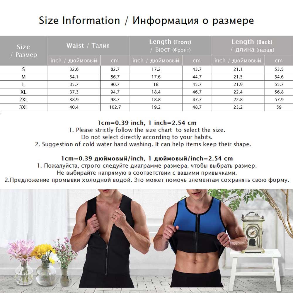 Palicy Neoprene Zipper Waist Trainer Vest Corset Shapewear Body Shaper Slimming Belt Workout Muscle Underwear Tops Men T shirt in Shapers from Underwear Sleepwears
