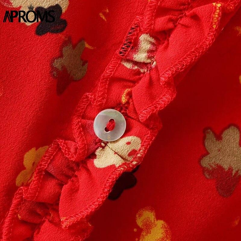 fccf0c188e9a0 US $15.99 40% OFF|Aproms Sweet Ruffles Floral Print Spaghetti Strap Dress  Summer Buttons Split Bodycon Dress 90s Girls Streetwear Dresses Vestidos-in  ...