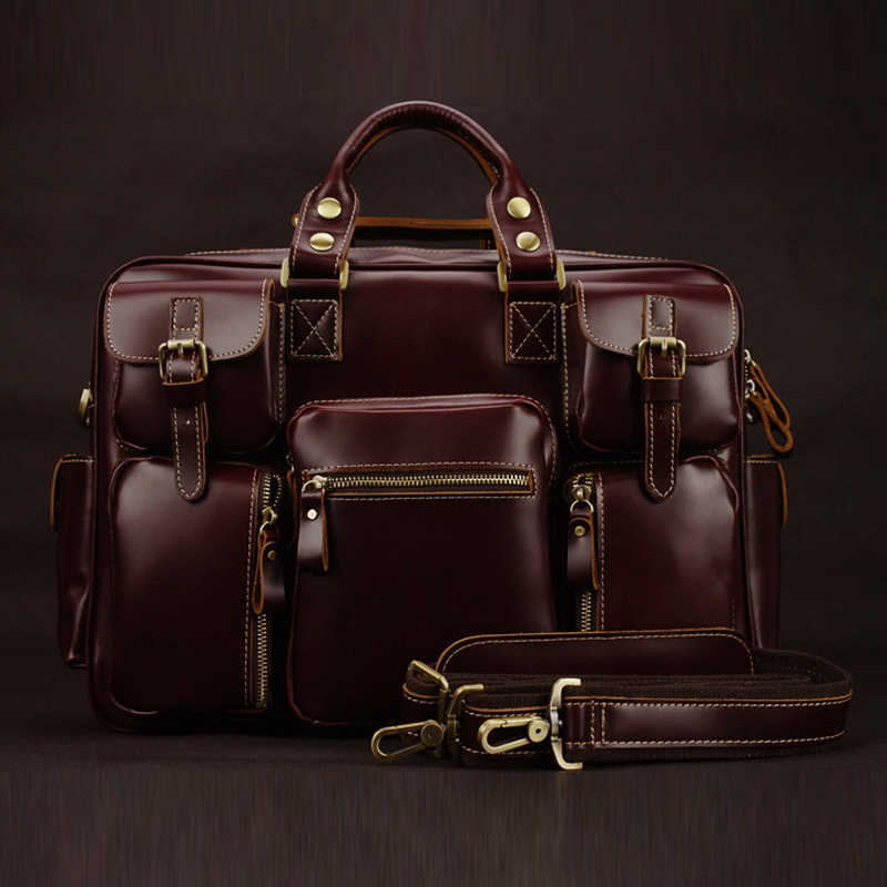 Luxury Genuine Leather Men's Travel Bags Luggage bag Big Men Leather Duffle Bags weekend bag overnight large tote Handbag M038#