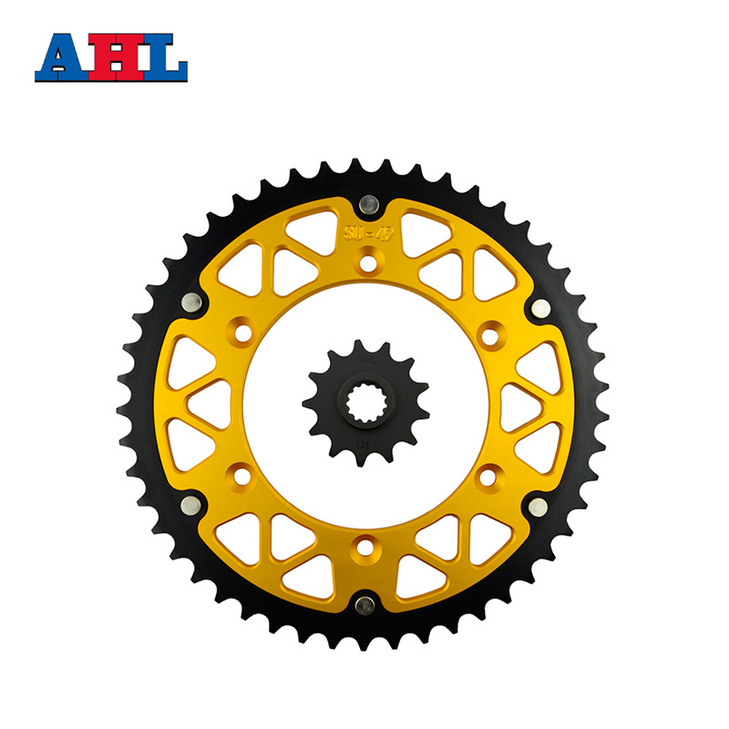 Motorcycle Parts Front & Rear Sprockets Kit For SUZUKI DR350SE DR 350SE DR 350 SE 1996 1999 DR350 USA 1990-99 Gear Fit 520 Chain