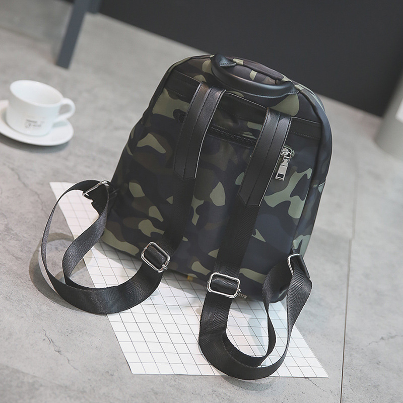 51a4a678c399b 2018 New Nylon Material Girl s Army Backpack Camo Fashion Schoolbag Fringe Zipper  Women s Bags-in Backpacks from Luggage   Bags on Aliexpress.com