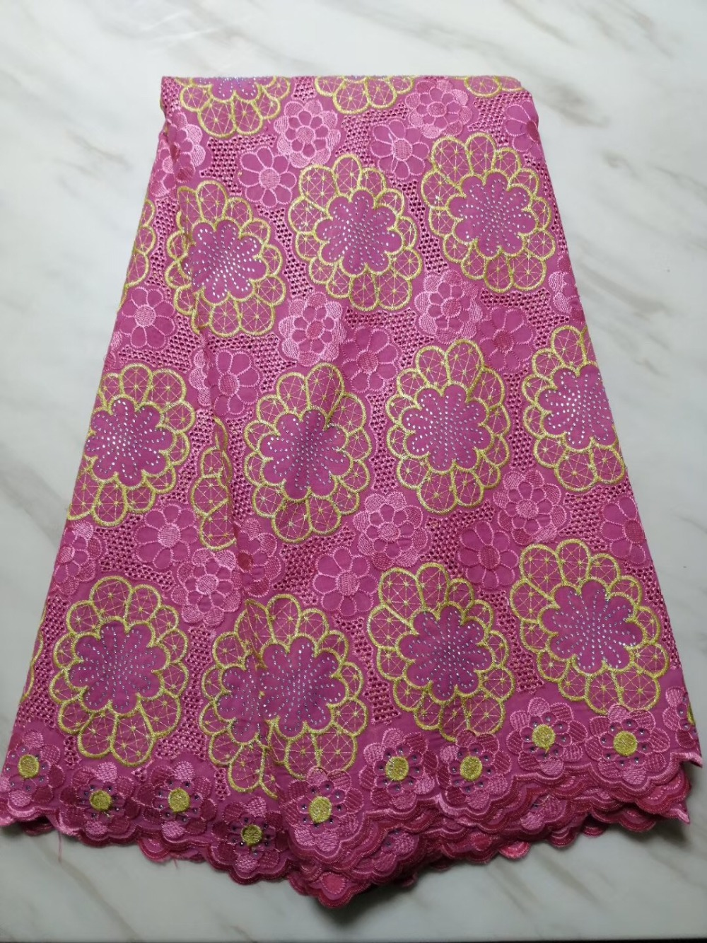 African Lace Fabric for dress Swiss voile Lace nigerian dry lace fabrics cotton material for garment