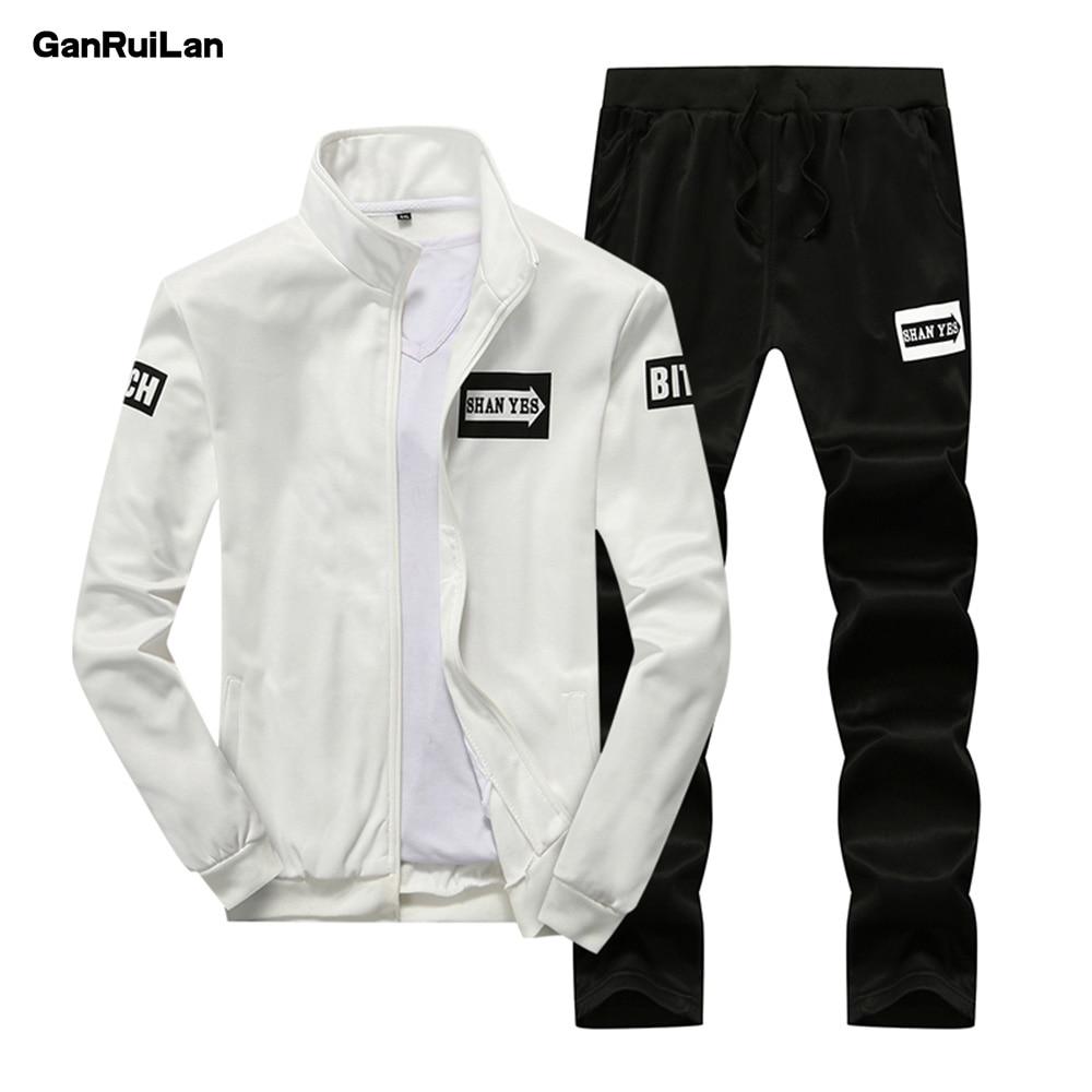 2018 Spring Autumn Men's Clothing Sets Male Clothing Suit Casual Sweatshirts Pant Men Brand Clothing Sportswear TZ18001