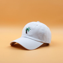 f5462931d81 2018 New Embroidery Palm Trees Curved Dad Hats Take A Trip Baseball Cap  Coconut Trees Hat