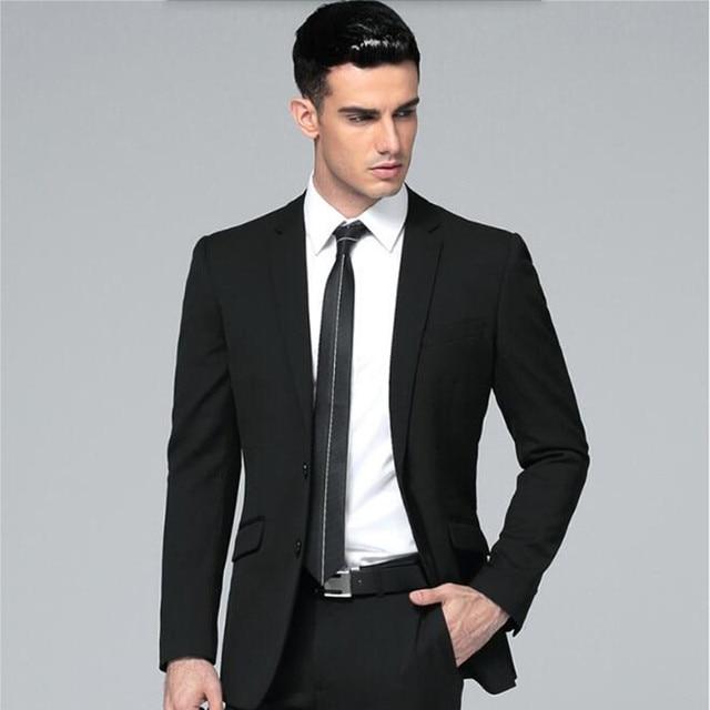 Vestito da uomo abiti da uomo Nero Nuovo arrivo Abiti Sposo smoking elegante  Abbigliamento Formale Business 2adb54ebb89