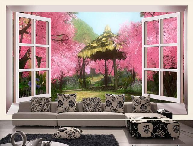 customize 3d wall murals Peach blossom dream 3d wallpapers for wall ...