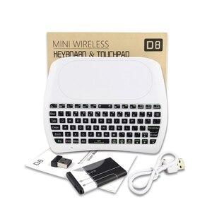 Image 5 - L8STAR D8 S 2.4G RGB لوحة مفاتيح لاسلكية مع لوحة لمس الخلفية يطير ماوس هوائي USB التحكم عن بعد لأجهزة الكمبيوتر المحمول كمبيوتر صغير تي في بوكس أندرويد