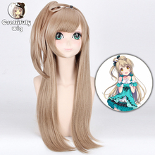 Love Live Kotori Minami Cosplay Wig Blonde Synthetic Hair 70cm Heat Resistant Straight Lovelive Halloween Costume Wigs стоимость