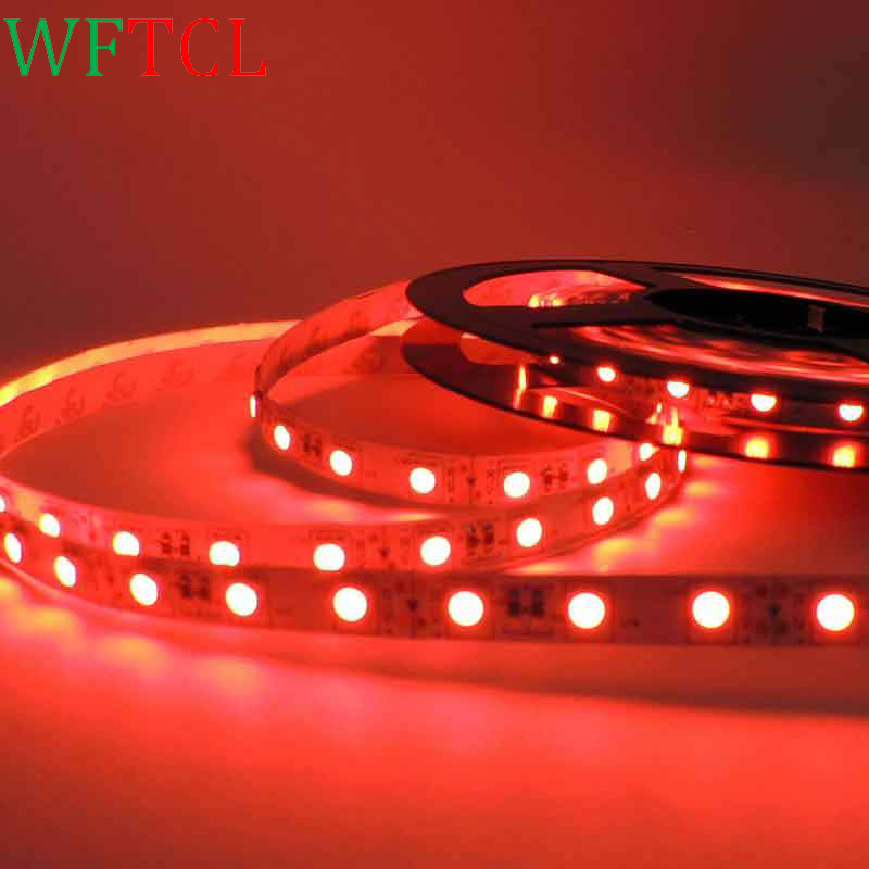 WFTCL iluminacion led strip lamp rgb 5050 diode tape led light strip fita de 12v smd tiras neon 5m christmas decoration