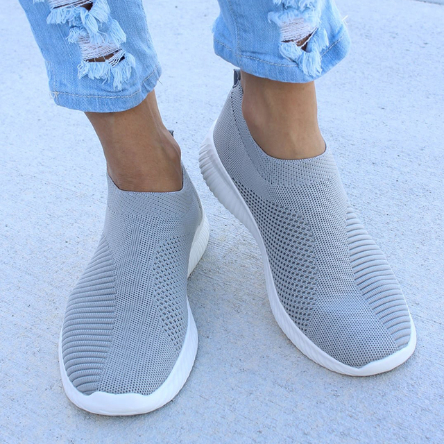 Plus Size 43 Sneakers Women Stretch Fabric Socks Shoes Woman Fashion Vulcanize Shoes Slip On Tenis Feminino Women Casual Shoes 2
