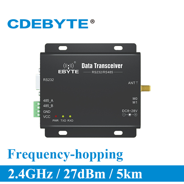 E34 DTU 2G4H27 completo y doble RS232 RS485 nRF24L01P 2,4 Ghz 500mW IoT uhf transmisor inalámbrico transmisor receptor Módulo de radiofrecuencia