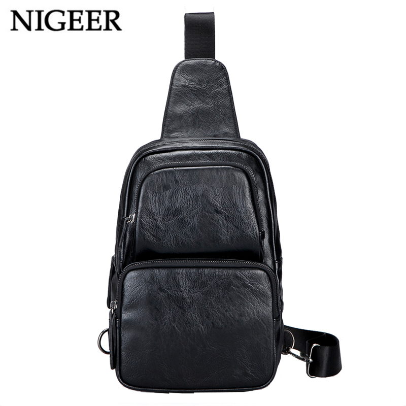 NIGEER Black Single Shoulder Bag Men Casual Crossbody Bags Chest Pack Water Repellent Travel Messenger Bag Male n0646 nigeer men chest bag casual shoulder