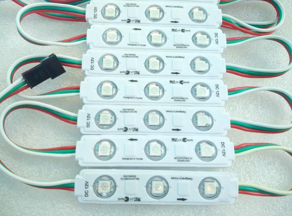 3LEDs 5050 SMD RGB LED Chasing Light LED Pixel Module Waterproof WS 2811 IC DC12V 500pcs/lot, DHL Shipping
