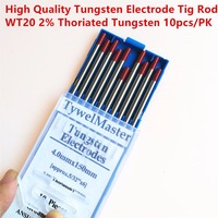 High Quality Tig Rods WT20 Tungsten Electrodes 4.0mm(5/32)x150mm(6) 10pcs/Pack 2.0% Thoriated Red Color for Tig Welding Torch