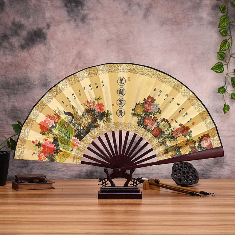 Antique Folding Fan Chinese Style Male Folding Portable Vintage Promotional Summer Fan Random Matching Decoration
