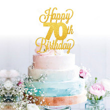 Buy 70th Birthday Cake Topper And Get Free Shipping On AliExpress