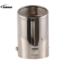 Straight Car Stainless Steel Chrome Square Tail Muffler Car Exhaust Pipe Tip Pipe Automobile Exhaust Pipes Tips