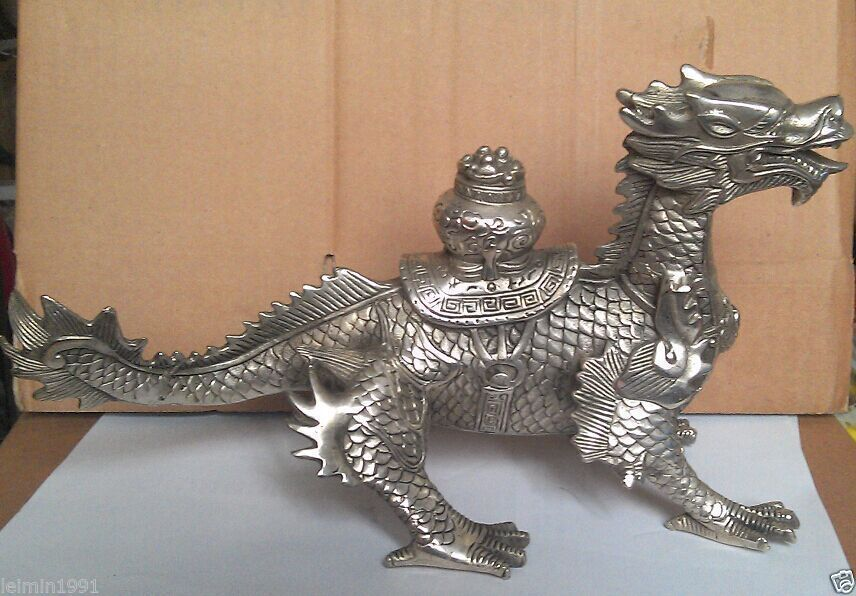 decoration brass factory outlets Tibet Silver  Huge Chinese old Tibetan Silver luck Dragon Statuedecoration brass factory outlets Tibet Silver  Huge Chinese old Tibetan Silver luck Dragon Statue