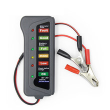 Mini 12V Car Battery Tester Digital Alternator Tester 6 LED Lights Display Car Diagnostic Tool Auto Battery Tester For Car(China)