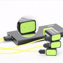 Znter s19 bateria rc de 9v recarregável, bateria de lipo, 400mah usb, para microfone