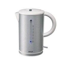 Чайник электрический MYSTERY MEK-1614 grey (Мощность 2200 Вт, объем 1.7 л, пластиковый корпус с отделкой сталью, вращение 360°)