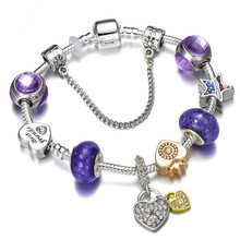 Best Friend Charm Friendship Bracelet For Women Girls Fit Original Brand Fashion Crown Queen Jewelry