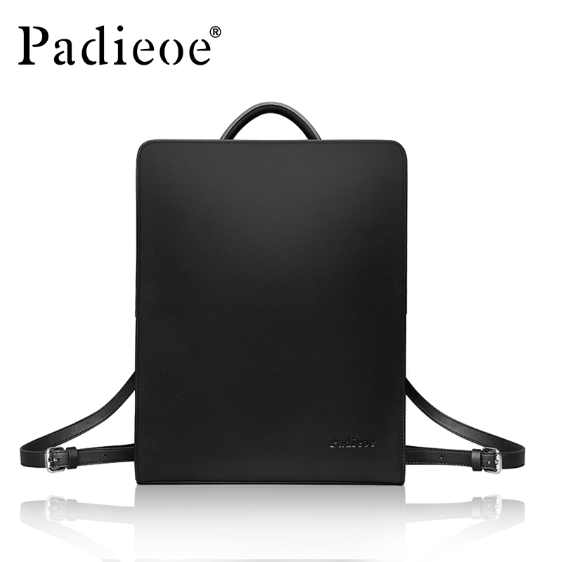 Padieoe Famous Brand 2017 New Design Men's Square Backpack Fashion Teenager School Mochila Bags Casual Simple Travel Bag for Men grizzly 2017 new fashion men backpack waterproof large capacity school bags for teenager boys casual mochila travel bag