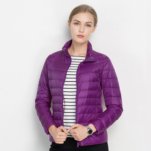 Women Winter Coat 2019 New Ultra Light White Duck Down Jacket Slim Women Winter Puffer Jacket Portable Windproof Down Coat 6