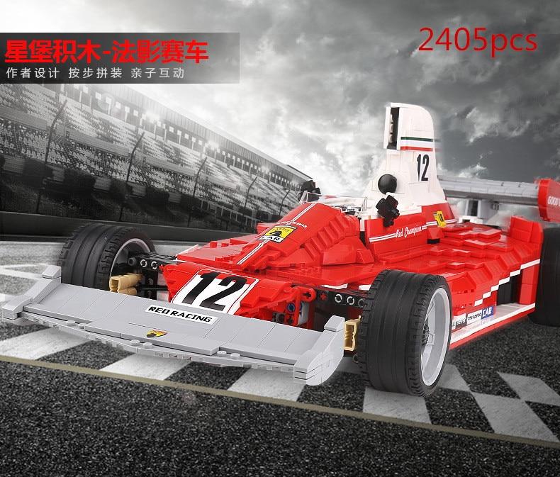 XINGBAO 03023 Genuine 2405PCS The Red Power Racing Car Set Building Blocks Bricks Educational Toys As