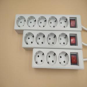 Image 3 - 5M uzatma kablosu soket ab tak 3 Jack / 4 Jack / 5 Jack 250V güç şeridi ev elektroniği masa prizleri ağ filtresi