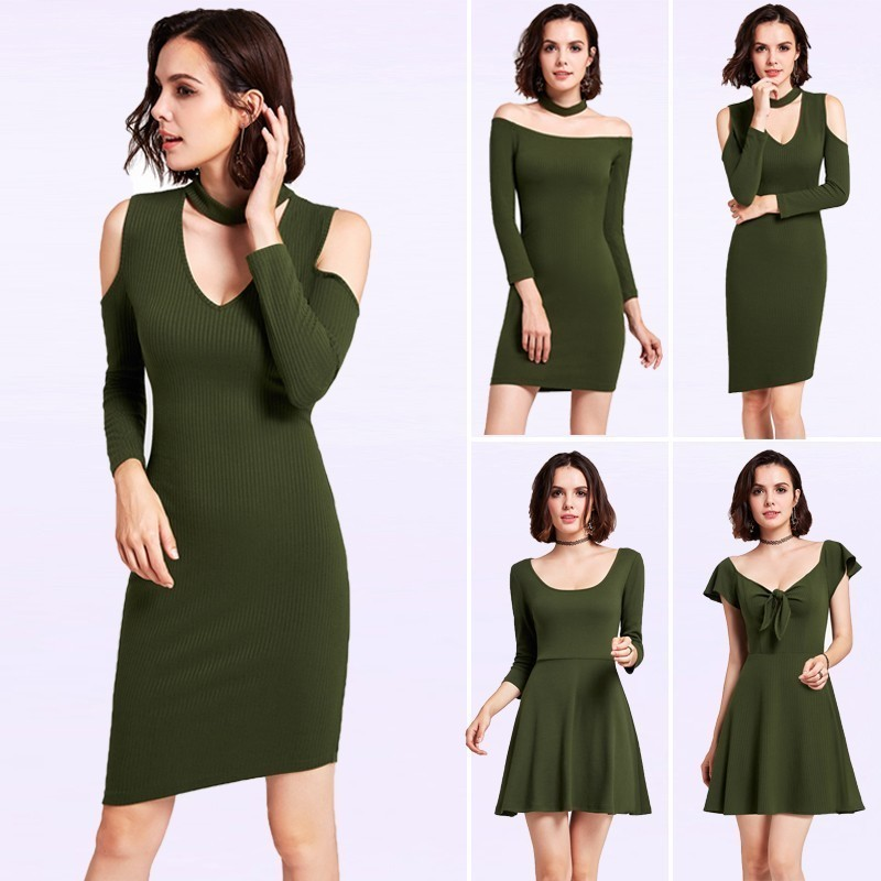 Sexy V-Neck Short   Cocktail     Dresses   Ever Pretty Slim Party Gown Cut-out Shoulder Knitting   Dress   Long Sleeve vestidos coctel mujer