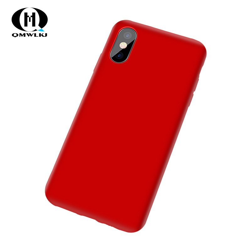 Imitation Liquid Silicone phone Cases Anti drop Shell For iPhone 7 XR 8 6S 6 PLUS X XS MAX TPU Cover For iPhone 7 Case in Fitted Cases from Cellphones Telecommunications