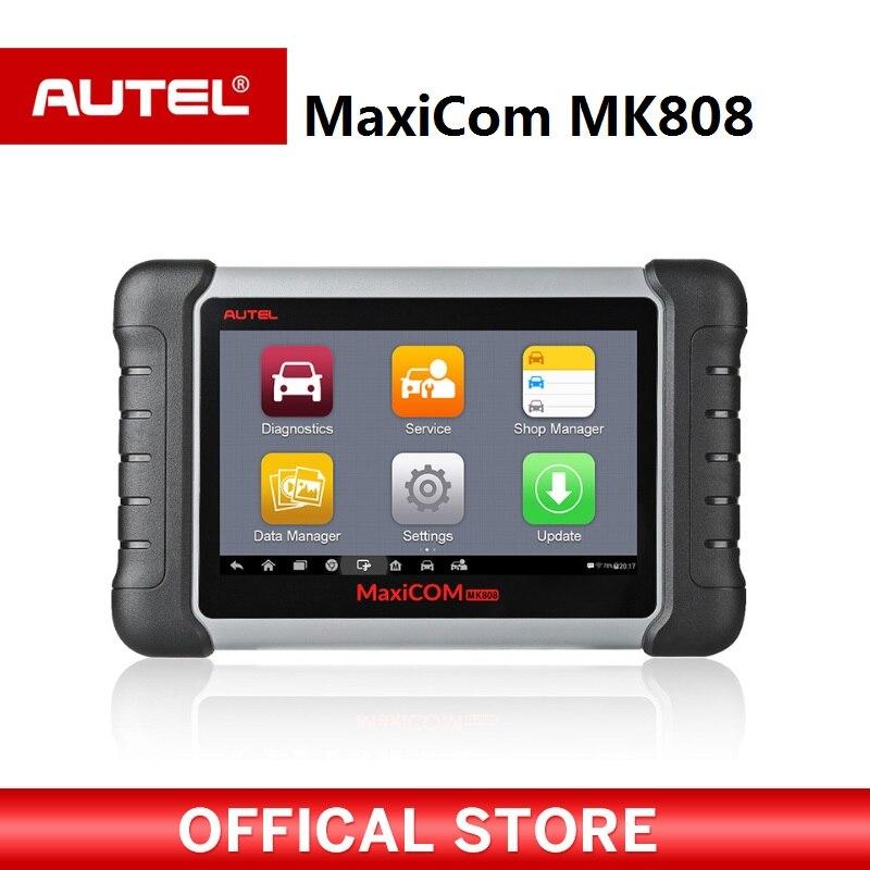 MaxiCOM ODB2 MK808 OBD2 Ferramenta de Diagnóstico do scanner Autel EPB IMMO leitor de código de automóvel para a programação chave DPF SAS TMPS PK MX808