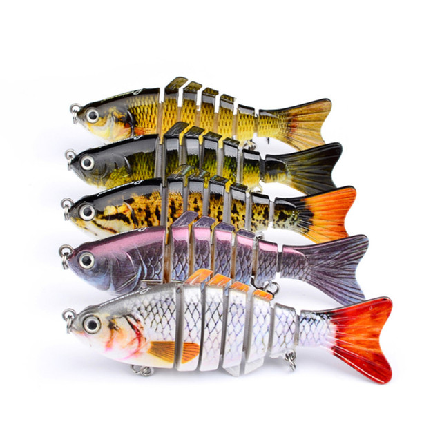 Best Price 10cm 15.2g Wobblers Pike Fishing Lures Artificial Multi Jointed Sections Artificial Hard Bait Trolling Pike Carp Fishing Tools